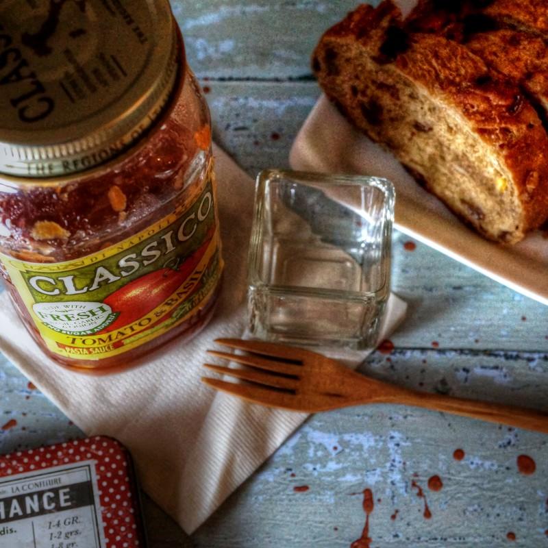 トマト&バジルのペーストで 朝パンを