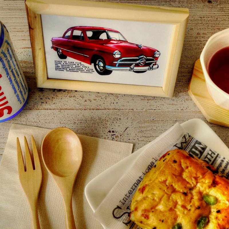 ドリンク・スマップで飾った 朝パン
