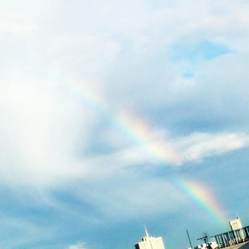 虹をくぐって