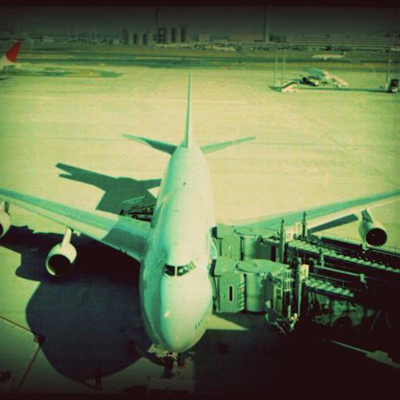 羽田国際線ターミナルにて