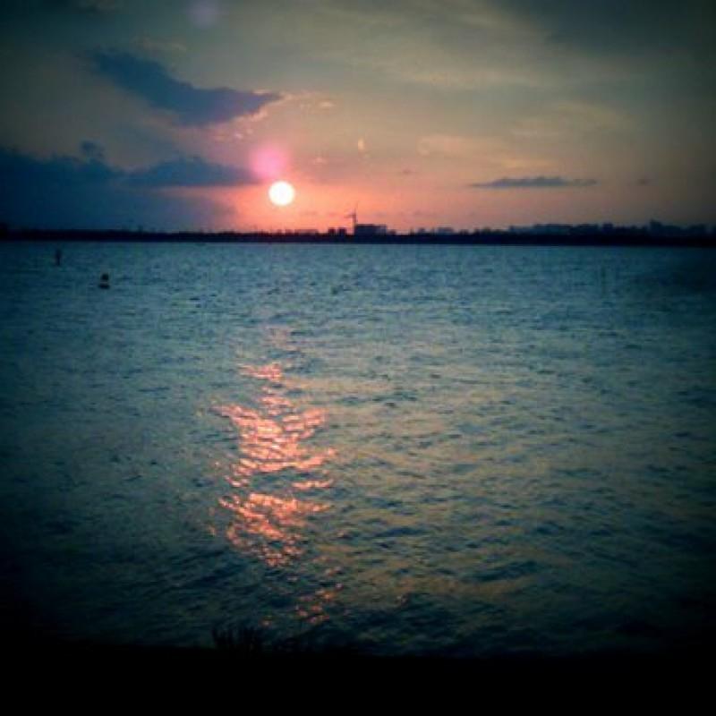 舞浜の夕日