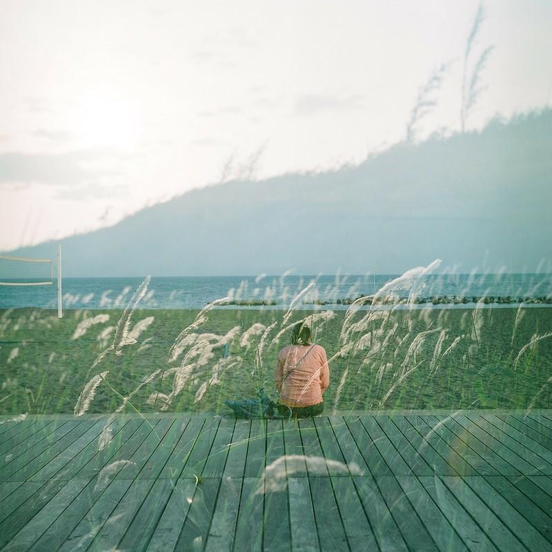 春の海、風に吹かれて