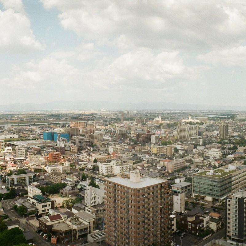 街を見下ろす。