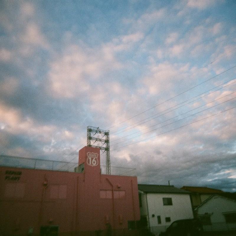 ピンクな夜明け