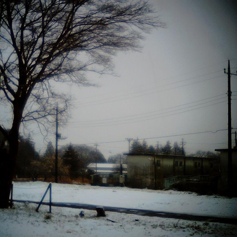 雪とアパート。