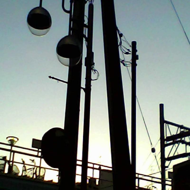 線路沿いの夕景