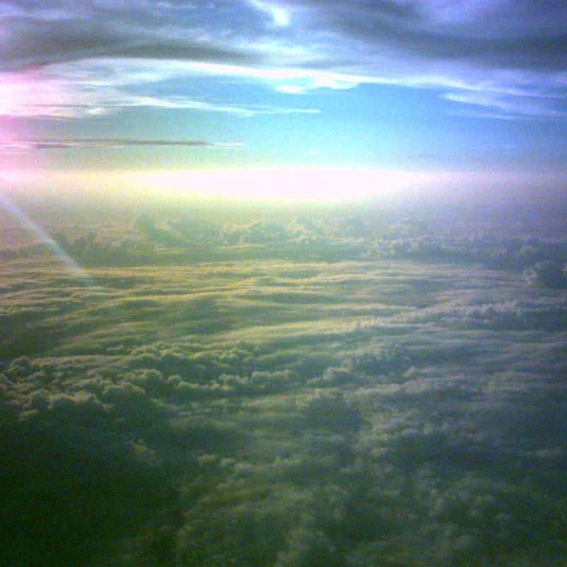 雲のじゅうたん 光り輝いて
