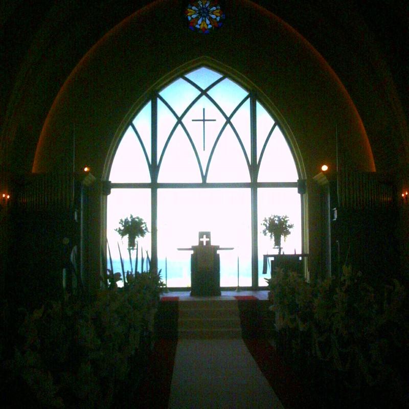 挙式した教会を訪ねて