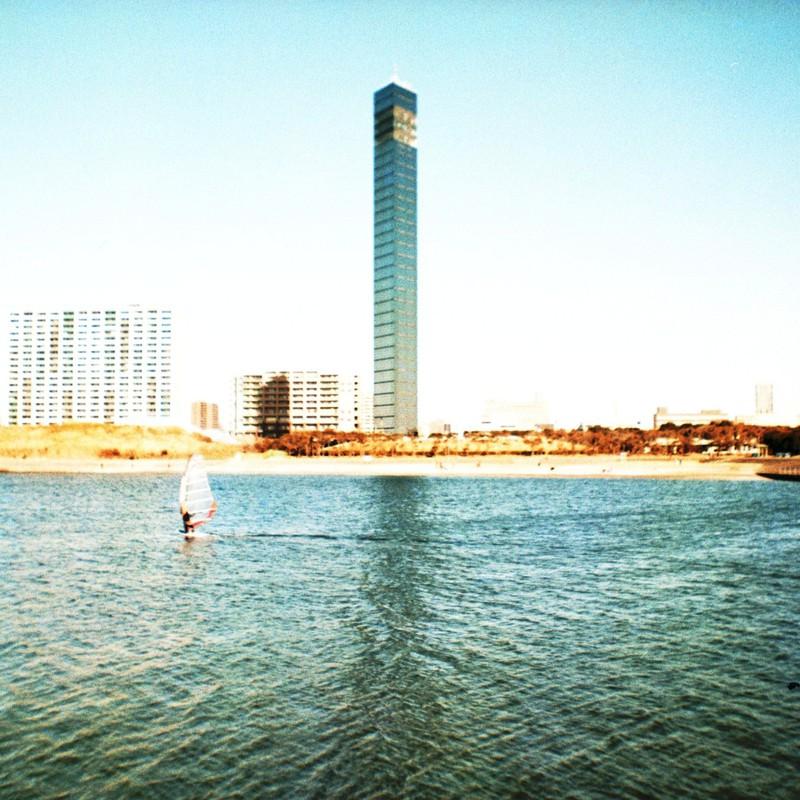 port tower & wind surfer