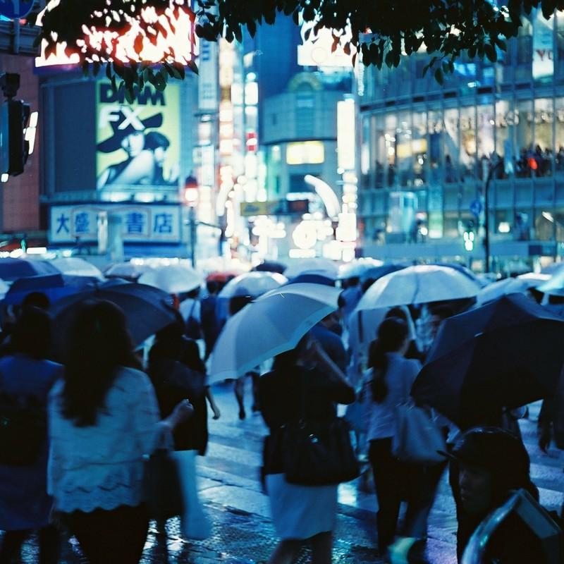 rainy blue.