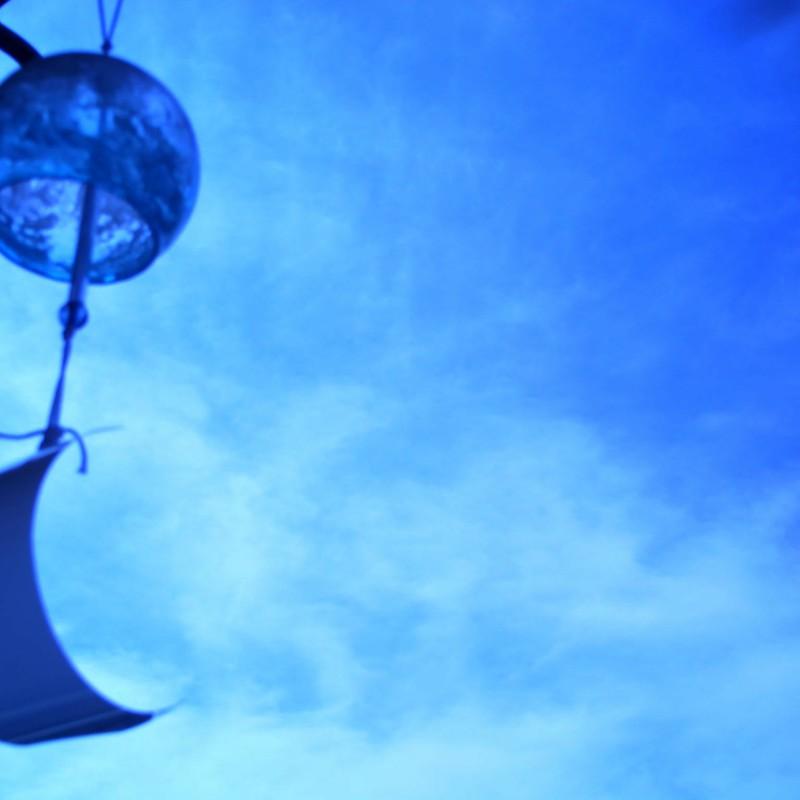 青色と夏と風鈴と