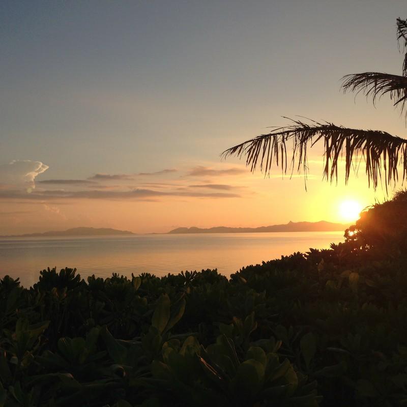 石垣島の朝。