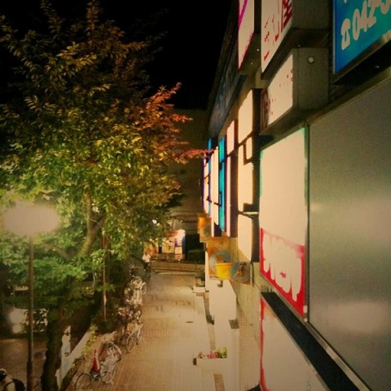 夜に歩く。夜を写す