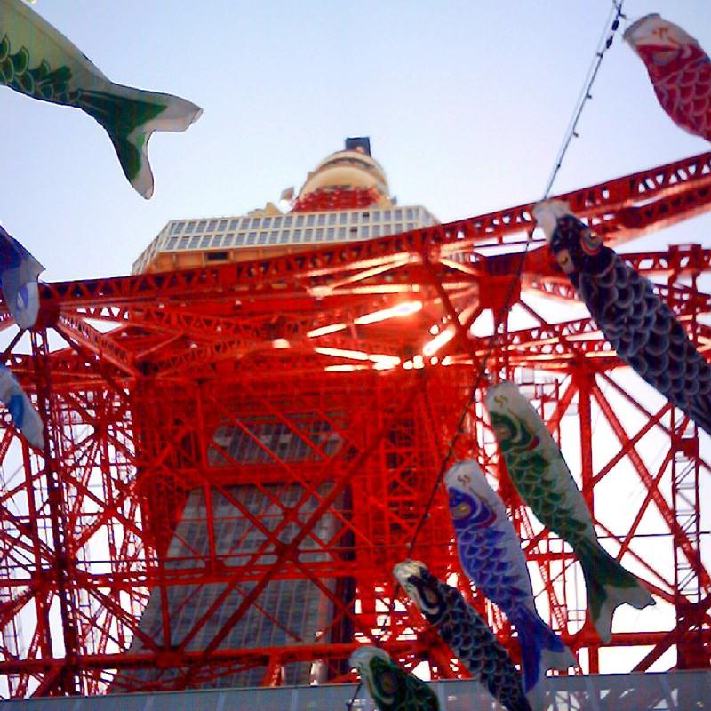東京タワーとこいのぼり