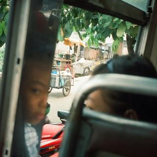 1998 バンコク、バスにて。