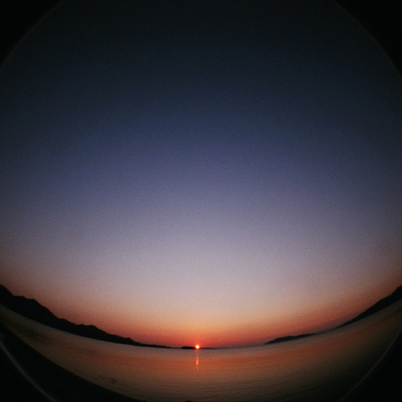 7年前の沈む夕日