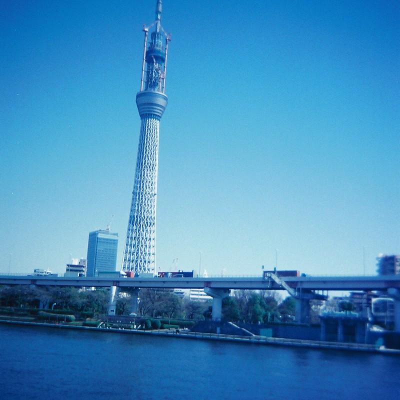到達、東京スカイツリー634m