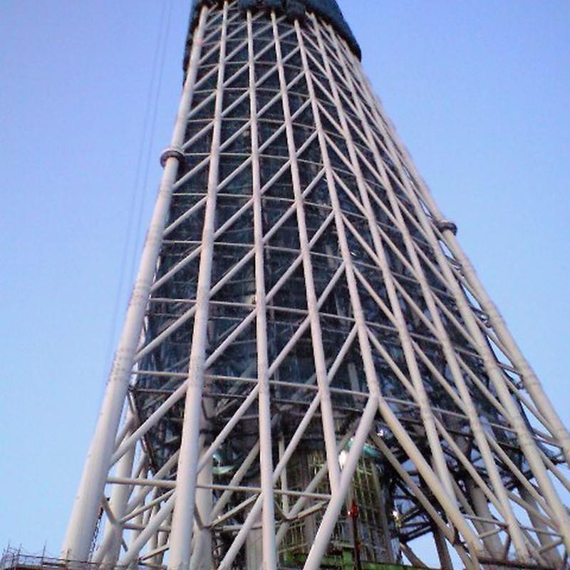 215m時点の東京スカイツリー