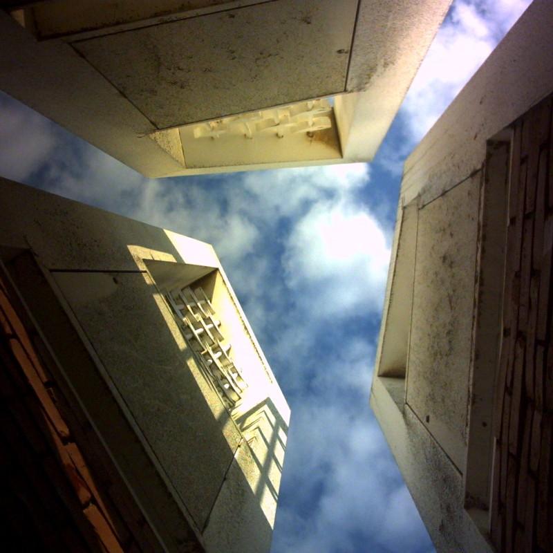 見上げる空