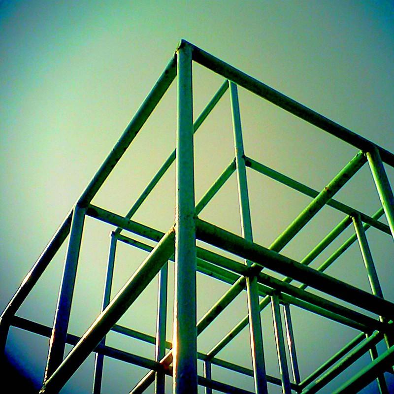 四角と三角と空