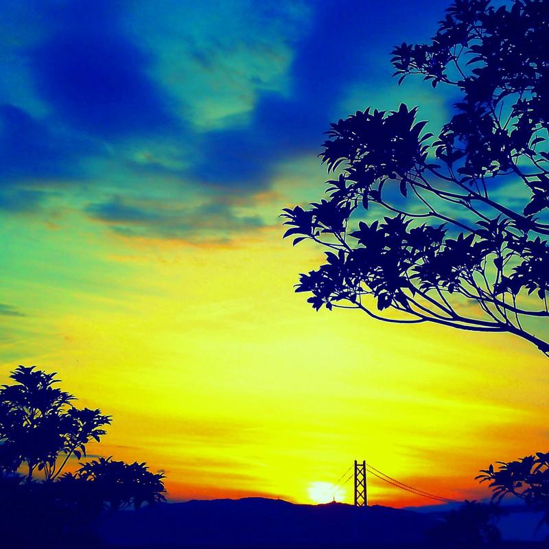 交じり合う空の色
