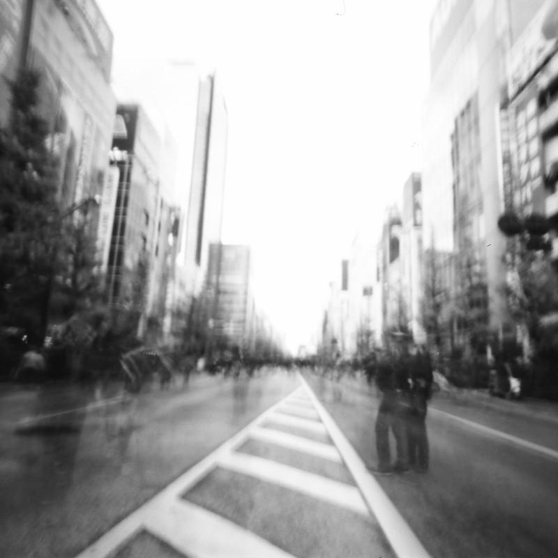曇天の大通り(秋葉原①)