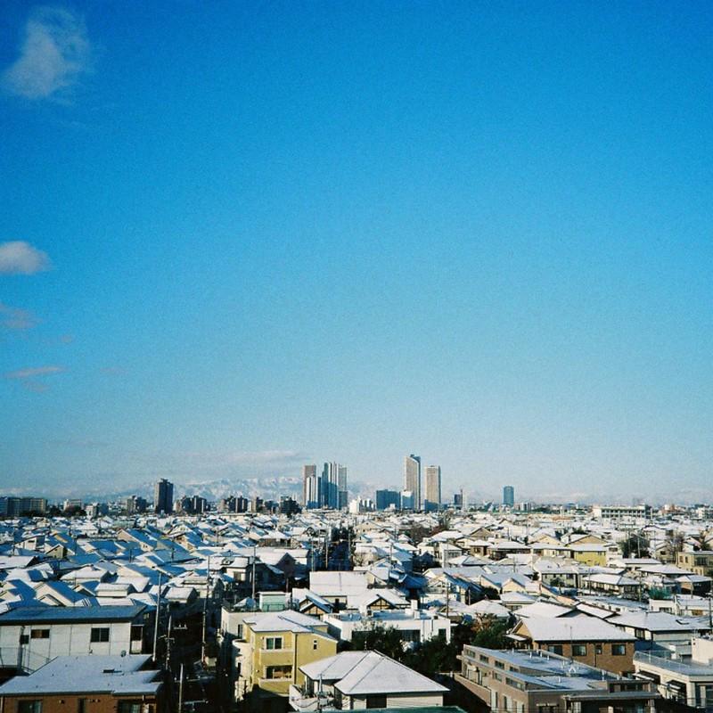 白と青の世界