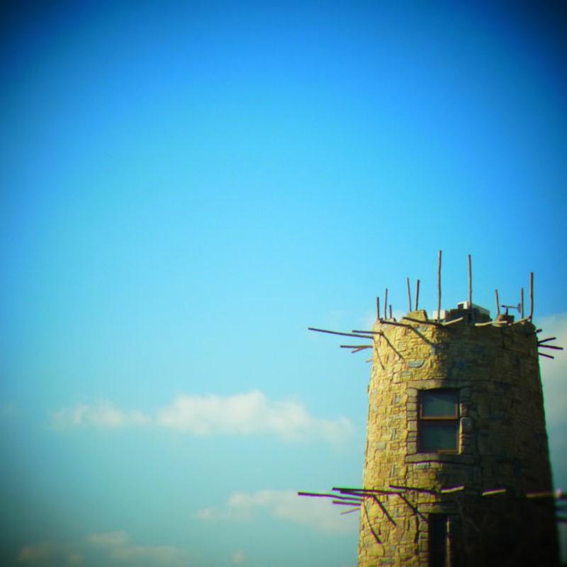 棒が一杯の塔