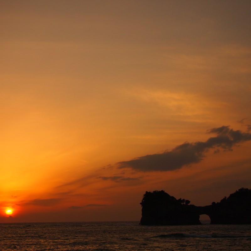 奇跡の夕陽