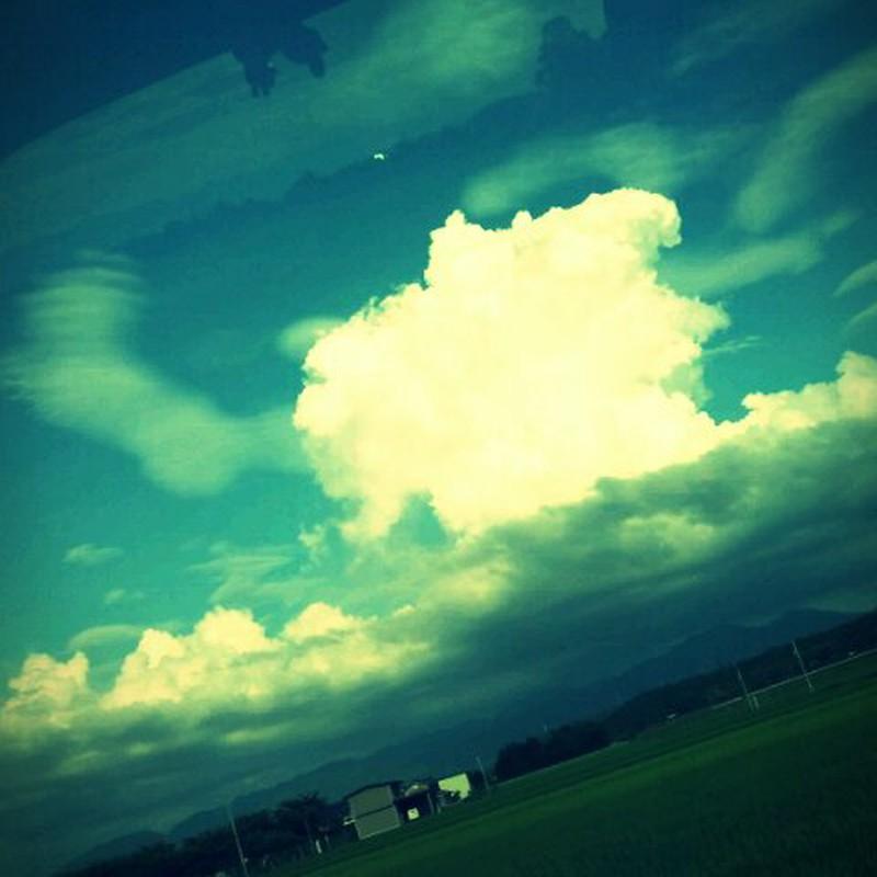 でかい雲があった