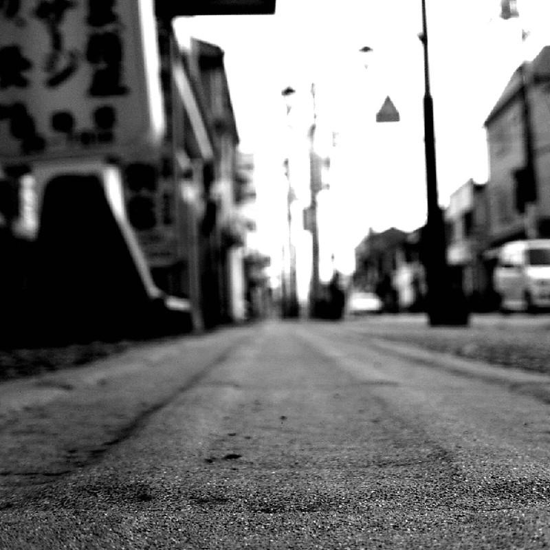 歩道の景色