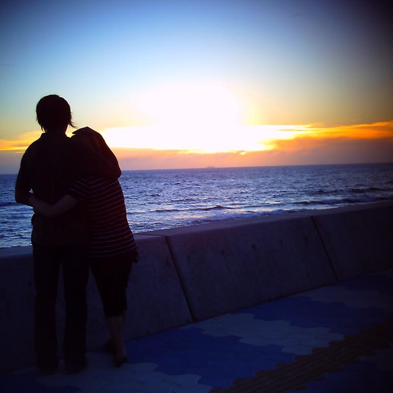 二人の夕陽❤