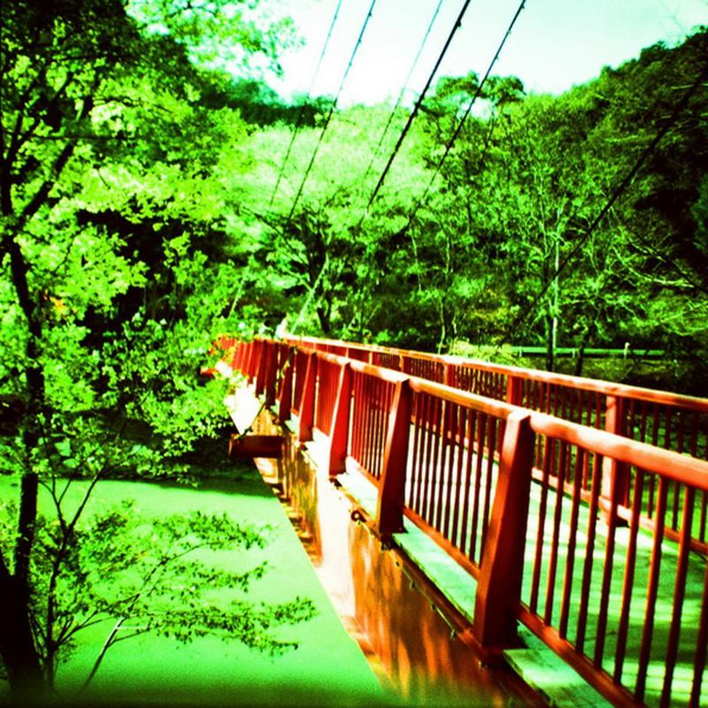 宇甘渓の赤橋