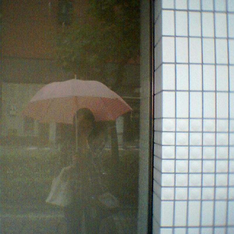 雨の日の。