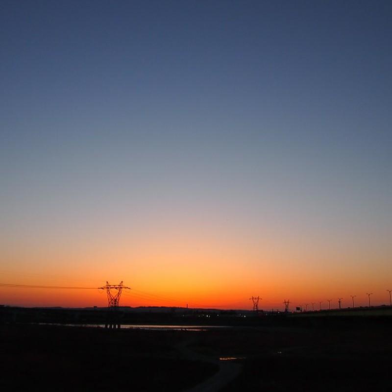3月11日の夕焼け。