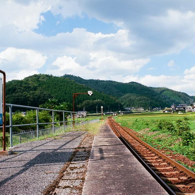 秋の備後三川駅