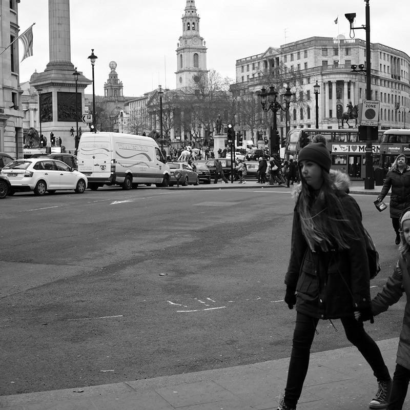 トラファルガー広場を目指して…