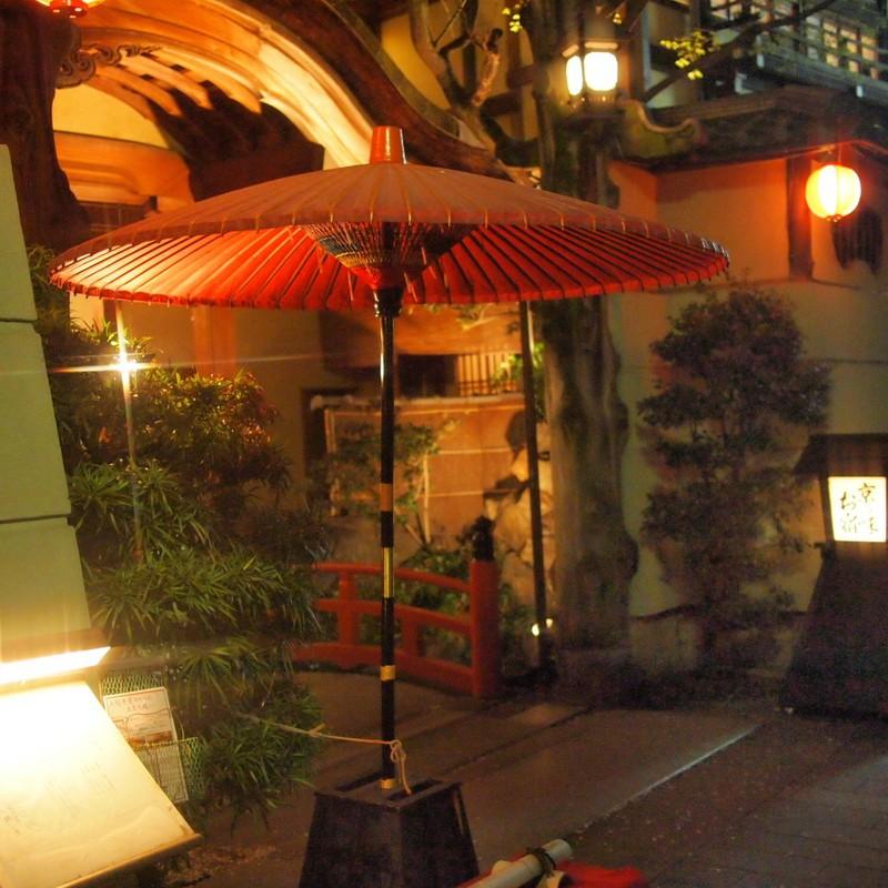 京の夜 「野点傘」