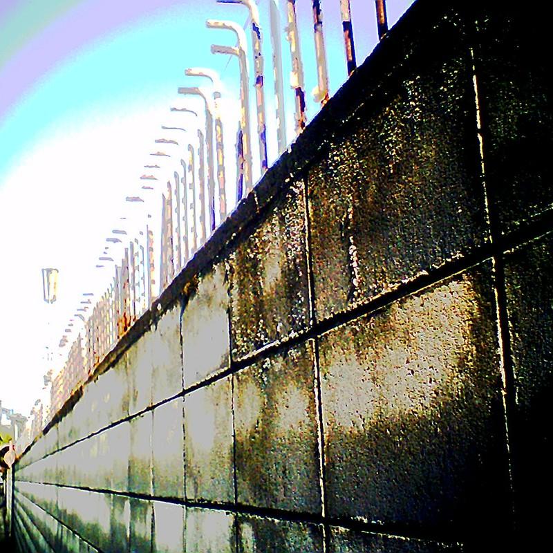 ブロック塀。