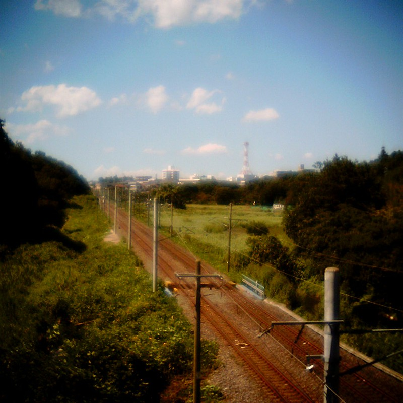 真夏の線路