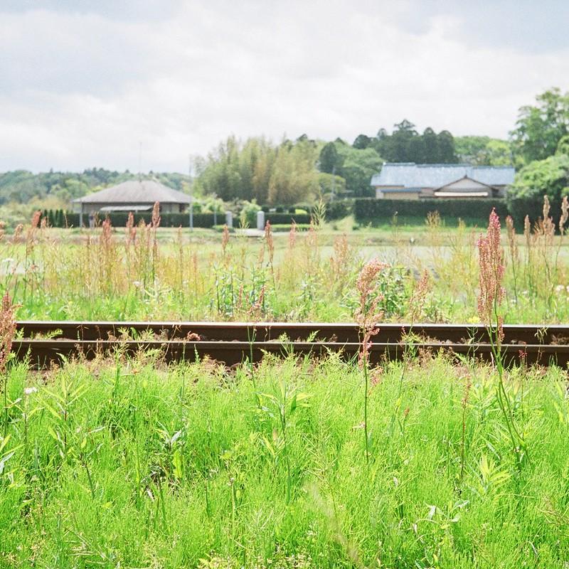 線路脇の風景