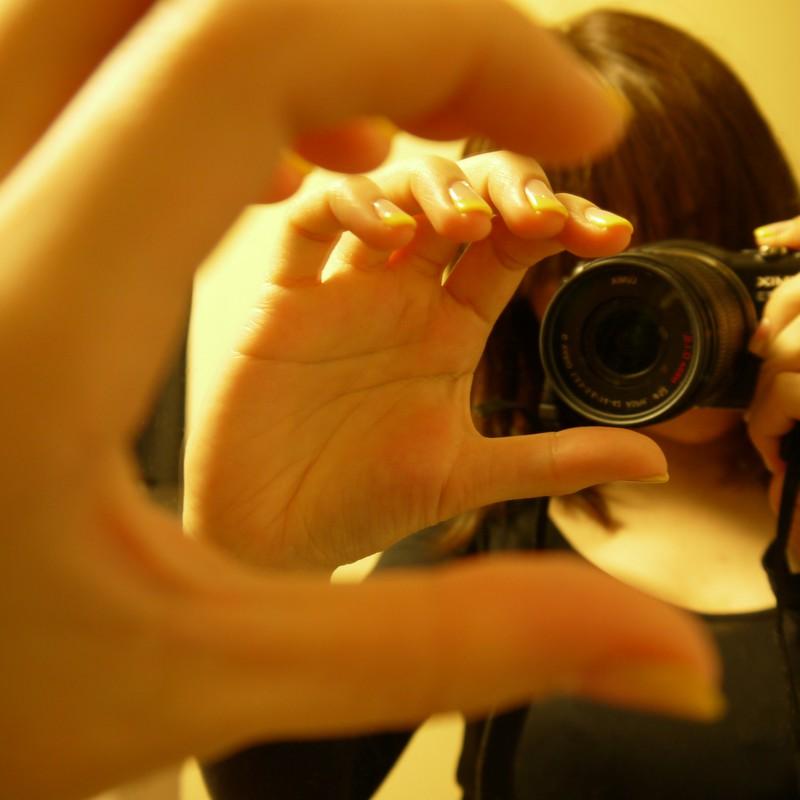 カメラ×鏡=トリック