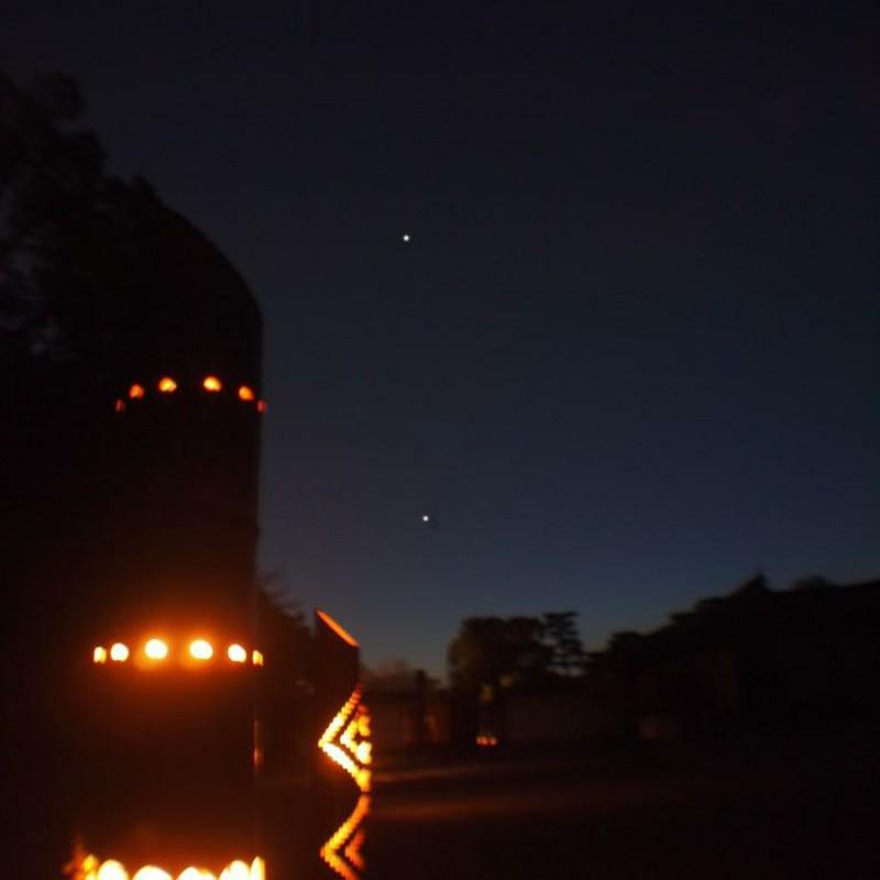 灯りと星の景色
