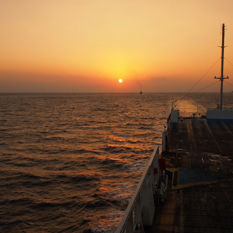 年納めの夕陽