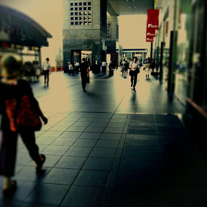 朝の京都駅