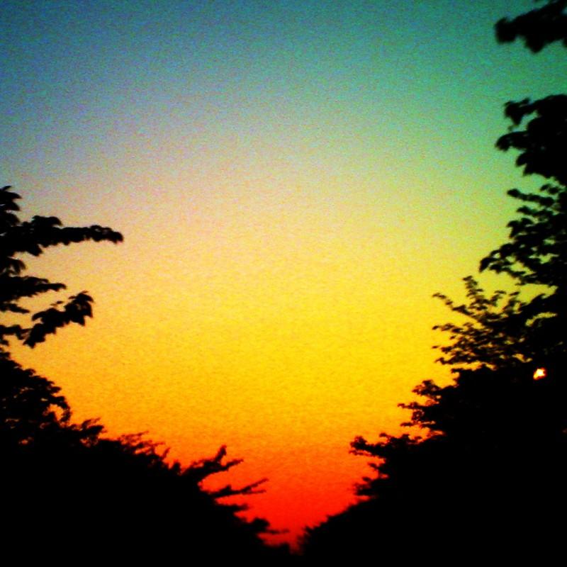 rainbowな夕焼け