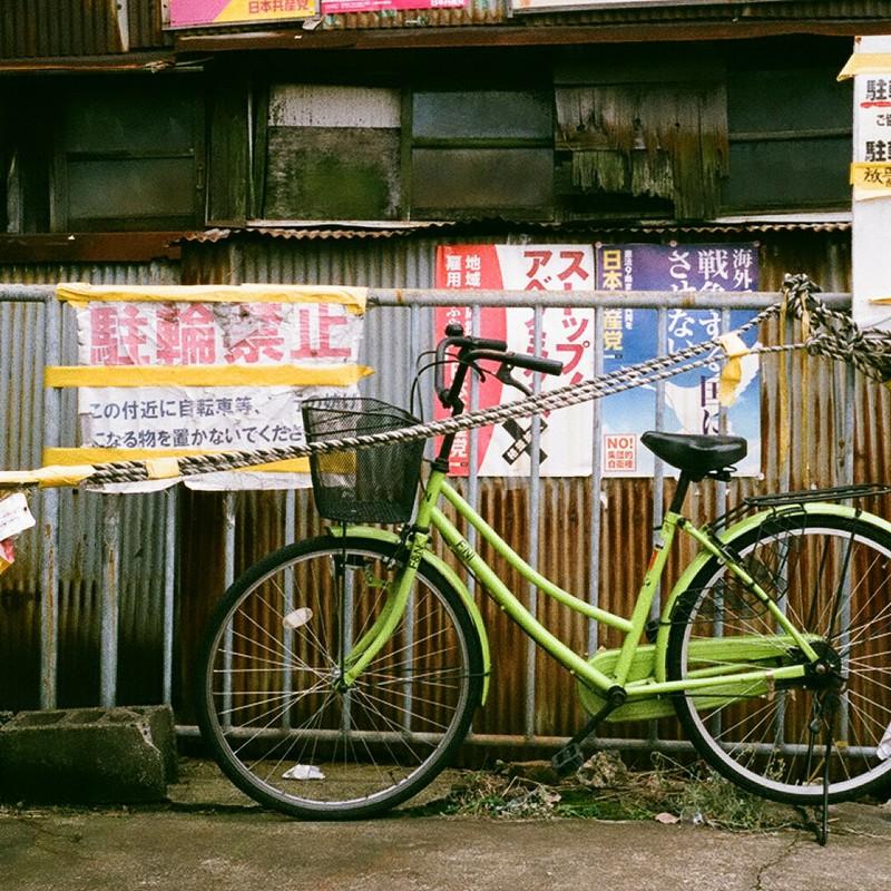 貼紙と自転車
