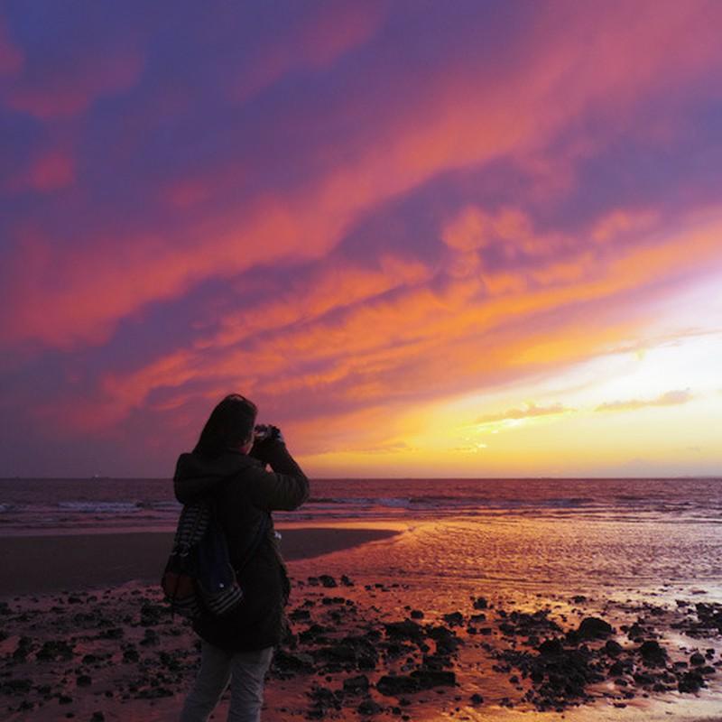 Re: 今年初めて観た夕陽