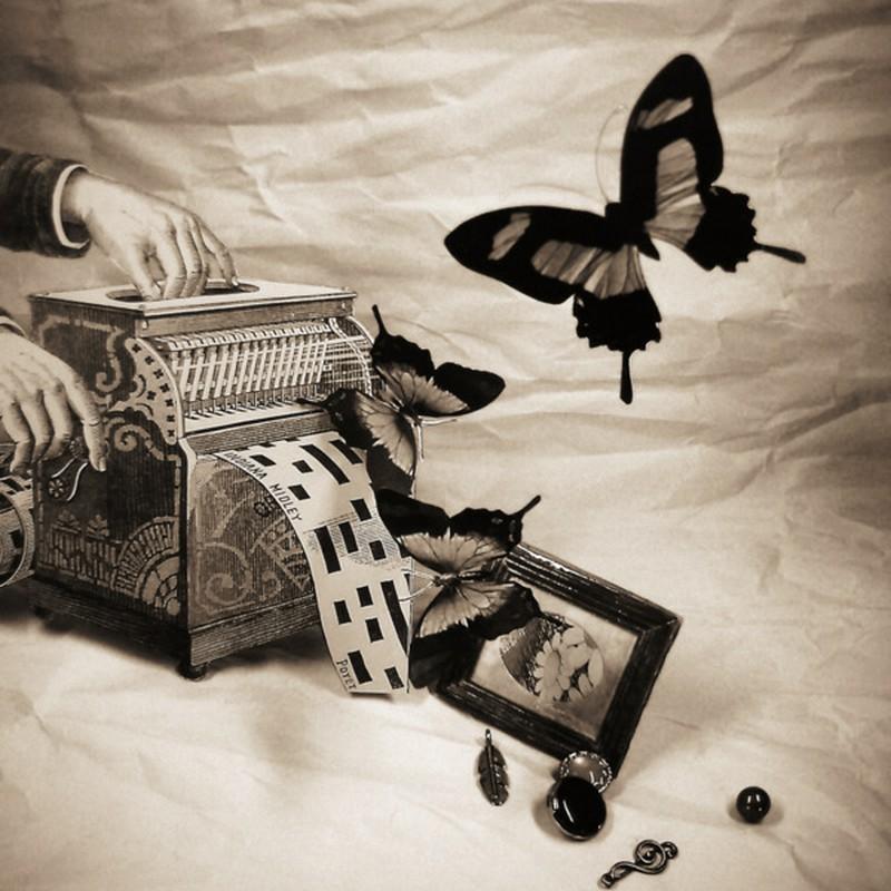 蝶々を作る機械