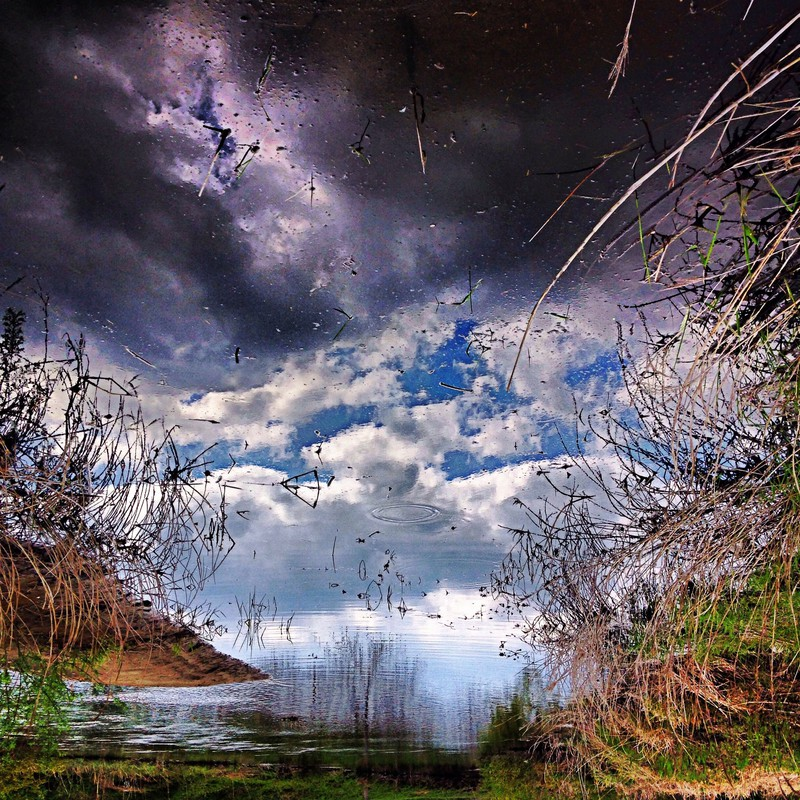 水面の空。